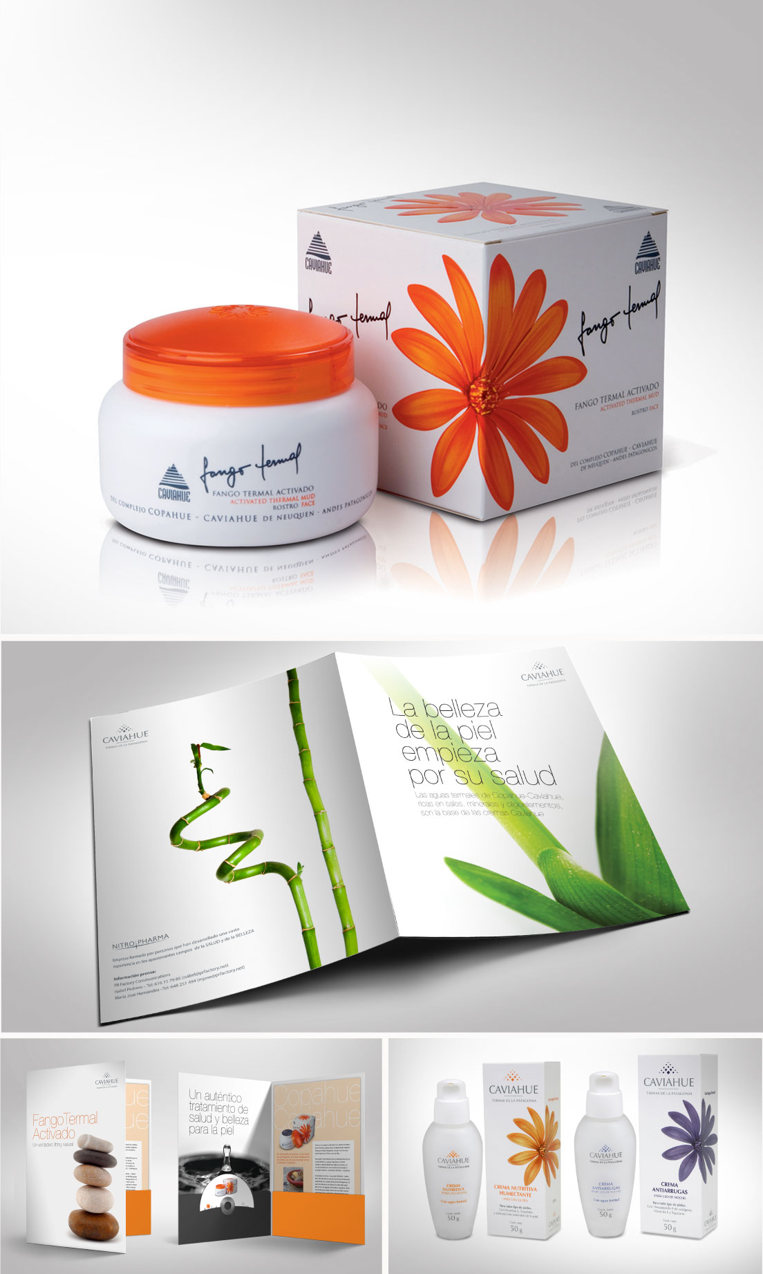 Caviahue thermal mud, branding and packaging